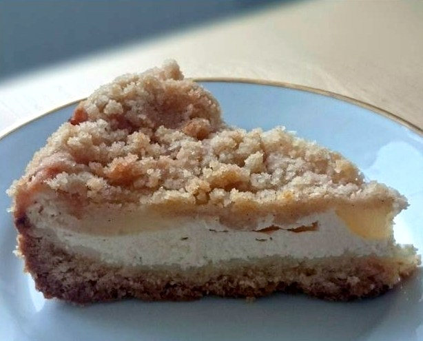 Linecký koláč s hruškami