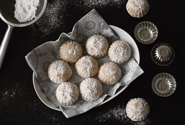 Vánoční cukroví kokosovomedové pracny