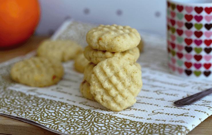 Domácí máslové sušenky s pomerančovou kůrou